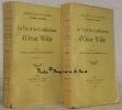 La vie et les confessions d'Oscar Wilde. Tome I et tome II. Traduction de Henry-D. Davray & Madeleine Vernon. (Tome I, troisième édition). Collection ...