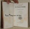 Histoire d'Angleterre depuis l'avénement de Jacques II. Traduit de l'anlglais par le Baron Jules de Peyronnet. Tome premier et tome deuxième.. ...