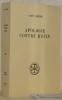 Apologie contre Rufin. Introduction, texte critique, traduction et index par Pierre Lardet. Collection Sources Chrétiennes, n.° 303.. SAINT JEROME.