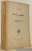 Poésies complètes. Texte allemand présenté et traduit par G. Ribemont-Dessaignes. Collection Le Don des Langues.. NIETZSCHE.