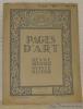 Pages d'Art. Janvier 1924. Revue Mensuelle Suisse Illustrée. Sommaire du numéro de Janvier 1024: Gustinus Ambrosi (8 illustrations), Stefan Zweig. - ...