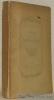 Poèsies diverses. Avec une Notice bio-bibliographique par H. Martin-Dairvault. Collection Petits Poètes du XVIIIe Siècle.. Chevalier DE BONNARD.