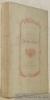 Poésies diverses. Avec une Notice bio-bibliographique par Octave Uzanne. Collection Petits Poètes du XVIIIe Siècle.. Chevalier DE BOUFFLERS.