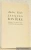 Jacques Rivière, 1886 - 1925. Collection Le Livre Neuf. Edition originale.. GIDE, André.