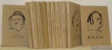 Petite collection Balzac. 12 Volumes complets, joint à la série brochure publicitaire contenant Facino Cane.. BALZAC, Honoré de.