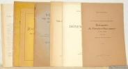 Lot de huit brochures. 1. Une lausannoise spirituelle et philosophe: Etiennette de Brenles-Chavannes et ses amis, 1725 - 1780, d'après des documents ...