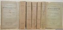 Les moines d'Occident depuis Saint Benoît jusqu'à Saint Bernard. 7 volumes complets. Sixième édition.. MONTALEMBERT, Comte de.