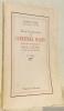 Essai d'explication du Cimetière Marin précédé d'un avant-propos de Paul Valéry au sujet du Cimetière Marin, Deuxième édition,. COHEN, Gustave.