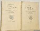Académie de Macon. Millénaire de Cluny. Congrès d'Histoire et d'Archéologie tenu à Cluny les 10. 11 et 12 septembre 1910. 2 Volumes..