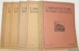 L'Architecture Suisse. Organe officiel de la Fédération des Architectes Suisses. Revue bi-mensuelle d'Architecture, d'Art, d'Art appliqué et de ...