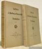 Lettres de J. Barbey d'Aurevilly à Trebutien. Avec un portrait inédit de l'auteur gravé à l'eau forte par Georges Noyon. Tome I et tome II.. BARBEY ...