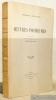 Oeuvres posthumes. Textes traduits avec introduction et notes par Henri Jean Bolle.. NIETZSCHE, Frédéric.