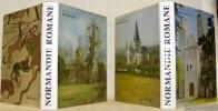 Normandie Romane I, la Basse Normandie. 2 Edition. Normandie Romane II, la Haute-Normandie. Traduction allemande de Hilaire de Vos et G. Schecher. ...