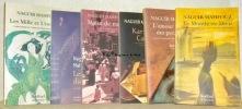 Lot de 24 ouvrages de Naguib Mahfouz. Editions Sindbad, collection Bibliothèque arabe: Mahfouz par Mahfour. - Les fils de la médina. - Récits de notre ...