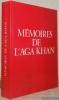 Mémoires de l'Aga Khan. Postface par Henri Rieben.. AGA KHAN.
