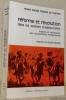 Réforme et révolution dans les sociétés traditionnelles. Histoire et ethnologie des mouvements messianiques.. Pereira de Queiroz, Maria Isaura.