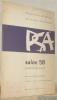 SPSAS palais de Rumine. Musée des Beaux-arts du 31 octobre au 7 décembre 1958. Salon 58. Catalogue..