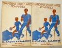 Chansons populaires romandes. 1ere Série, N° 4. 2e Série, N° 5.. Jaques-Dalcroze, E.