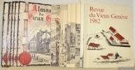 Almanach du Vieux Genève. Revue du Vieux Genève (à partir de 1971).  Années 1966 à 1982. 17 Numéros..