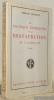 La politique extérieure de la restauration et l'allemagne. 2e Edition.. GROSJEAN, Georges.