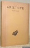 Poétique. Texte établi et traduit par J. Hardy. Collection des Univeristés de France.. ARISTOTE.