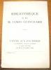Bibliothèque de Feu M. James Guichard, imprimeur à Neuchâtel. Ventes aux enchères à Genève, catalogue n° 63..