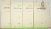 Bulletin du Bibliophile. Revue fondée en 1834. 1976 Fasc. I - II - III - IV..