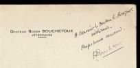 LA RESPONSABILITÉ CIVILE DU MARÉCHAL-FERRANT. BOUCHETOUX Roger Docteur vétérinaire