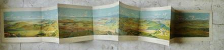 """Panorama """"Ce que l'on voit du sommet du Puy-de-Dôme"""". Th. THAILHANDIER"""