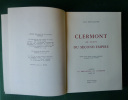 """Clermont au temps du Second Empire. Tome XII de la collection """"Le Bibliophile en Auvergne"""".. Aimé COULAUDON"""