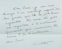 Colette. Discours de réception à l'Académie royale de langue et de littérature françaises. Suivi d'un discours d'accueil de Fernand Desonay.. COCTEAU ...