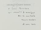 Grâces leur soient rendues. Mémoires littéraires.. NADEAU (Maurice).