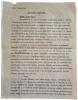 Tapuscrit du chapitre XII du Journal. - Correspondance en polonais et en espagnol adressée à sa compatriote Alicia de Giangrande. . GOMBROWICZ ...