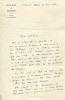 Réunion de 8 lettres autographes signées adressées à Madeleine Chapsal et 2 lettres à Jean-Jacques Servan-Schreiber . MERLEAU-PONTY (Maurice).
