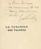 La Parabole des talents. POURTALES (Guy de).