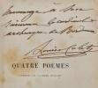 Quatre poëmes couronnés par l'Académie française (Le Musée de Versailles, Le Monument de Molière, La Colonie de Mettray, L'Acropole d'Athènes).. COLET ...