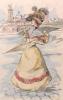 Les Modes féminines du XIXe siècle, interprétées en cent pointes-sèches aquarellées au pinceau (1801-1900). Préface de Jules Claretie.  . BOUTET ...