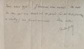 Lettre autographe signée adressée à [Paul Fort]. . GIDE (André).