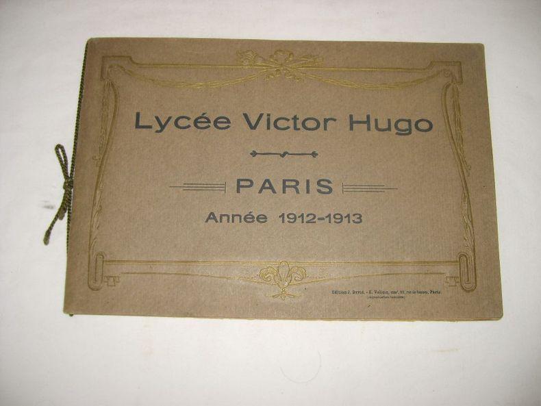 Lycée Victor Hugo. Paris. Année 1912-1913..