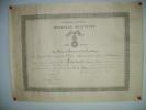 Brevet de Médaille Militaire délivré à M. Pouvreau Jacques, Marie, Sergent..