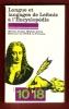 Langue et Langages De Leibniz à L'Encyclopédie : Séminaire De L'Ecole Normale Supérieure De Fontenay . DUCHET Michèle , JALLET Michèle Avec De ...