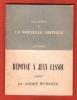 Réponse à Jean Cassou : Pamphlet . WURMSER André