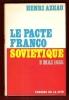 Le Pacte Franco-Soviétique 2 Mai 1935 . AZEAU Henri