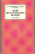 Guide de La Contraction De Texte . ARAMBOUROU Ch. , F. TEXIER , F. VANOYE