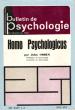 Bulletin De Psychologie N° 287 Tome  XXIV 1-2 . 1970-1971 . Homo Psychologicus . COHEN John