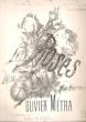 Les Roses Édition Originale Traduction De G. Zaffira . Valse Pour Piano et Chant . METRA Olivier  , Marc CONSTANTIN