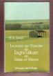 Lectures sur L'histoire de L'agriculture En Seine-et-Marne . DENIS F.-A ( Abbé )