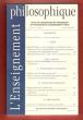L'Enseignement Philosophique n° 3 . janvier-Février 2007 : Les Nourrices Supérieures - La Notion De Réputation de Machiavel à Botero - Commencement , ...