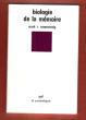 Biologie De La Mémoire . ROSENZWEIG Mark R.