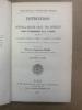 Instructions du Général-Major Carl von Schmidt, chargé du commandement de la 7ème division relatives à l'instruction, l'éducation, l'emploi et la ...